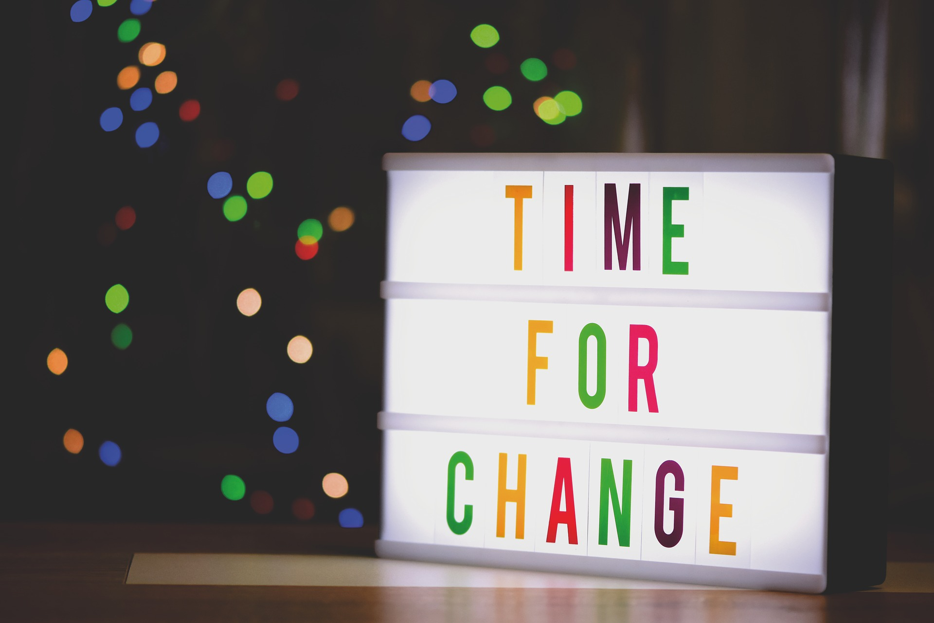 Time For Change Sign